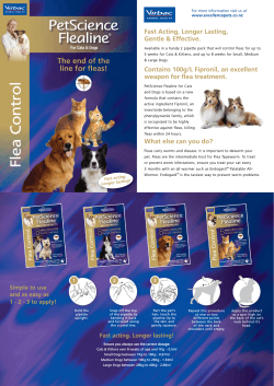 PetScience Flealine Fast Acting, Longer Lasting, Gentle & Effective.