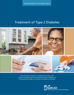 Treatment of Type 2 Diabetes Improving Patient Care through Evidence