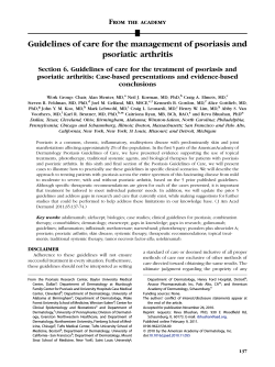Guidelines of care for the management of psoriasis and psoriatic arthritis F