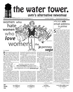 uvm.edu/~watertwr     -    ... volume 11 - issue 5 - tuesday, february 21, 2012 -...