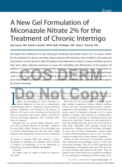 A New Gel Formulation of Miconazole Nitrate 2% for the S