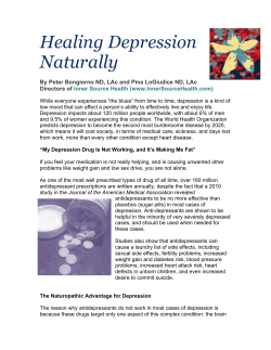 Healing Depression Naturally