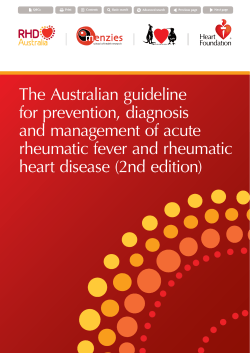 The Australian guideline for prevention, diagnosis and management of acute