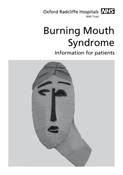 Burning Mouth Syndrome Information for patients