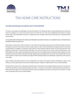 TMJ HOME CARE INSTRUCTIONS