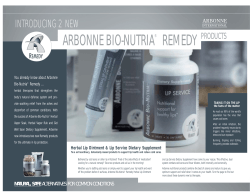 ARBONNE BIO-NUTRIA REMEDY INTRODUCING 2 NEW PRODUCTS