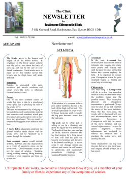 NEWSLETTER  The Clinic SCIATICA