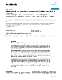 Scoliosis Adult scoliosis can be reduced through specific SEAS exercises: a