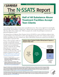 N-SSATS The Report Half of All Substance Abuse