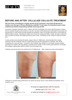 BEFORE AND AFTER: CELLULAZE CELLULITE TREATMENT