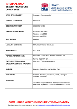 INTERNAL ONLY SESLHN PROCEDURE COVER SHEET