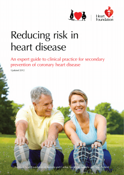 Reducing risk in heart disease prevention of coronary heart disease
