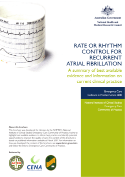 RATE OR RHYTHM CONTROL FOR RECuRRENT ATRIAL FIBRILLATION