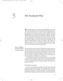 5 T The Treatment Plan
