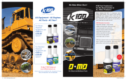 We Make Water Burn! K100 Fuel Treatment is the Bio-Based Solution to