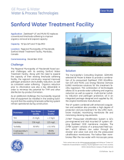 Sanford Water Treatment Facility Case Study