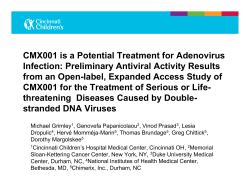 CMX001 is a Potential Treatment for Adenovirus
