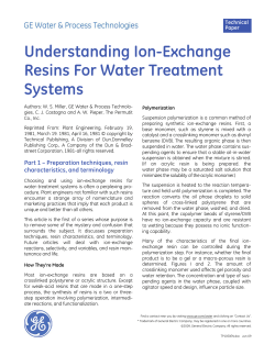 Understanding Ion-Exchange Resins For Water Treatment Systems Technical