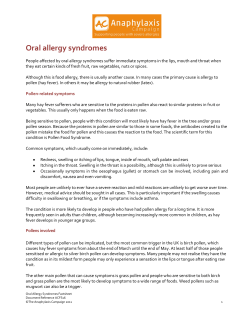 Oral allergy syndromes