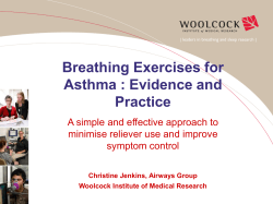 Breathing Exercises for Asthma : Evidence and Practice