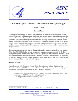 ASPE ISSUE BRIEF  Common Sports Injuries:  Incidence and Average Charges