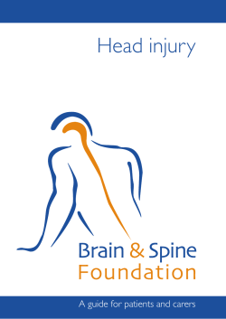 Head injury A guide for patients and carers