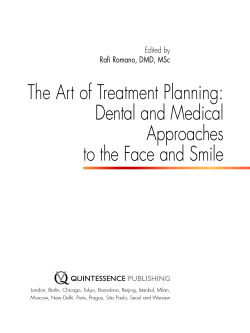The Art of Treatment Planning: Dental and Medical Approaches