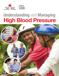 High Blood Pressure  Understanding Check.
