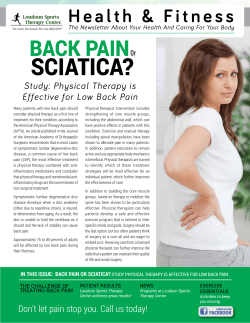SCIATICA? BACK PAIN