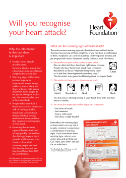 Will you recognise your heart attack? Why the information