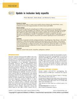 Update in inclusion body myositis  C O