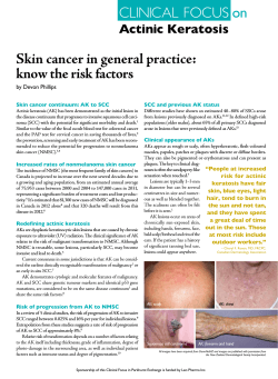 Skin cancer in general practice: know the risk factors by Devon Phillips