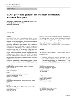 EANM procedure guideline for treatment of refractory metastatic bone pain GUIDELINES