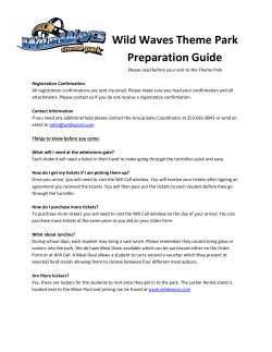 Wild Waves Theme Park Preparation Guide