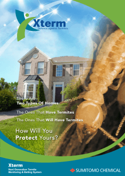 How Will You Protect Yours? SUMITOMO CHEMICAL There Are