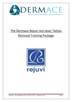 The Dermace Rejuvi non-laser Tattoo Removal Training Package