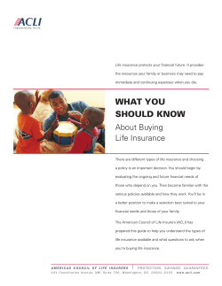 Life insurance protects your financial future. It provides