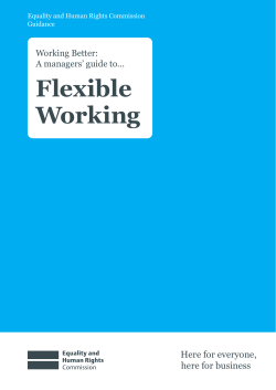 Flexible Working Here for everyone, here for business