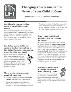 Changing Your Name or the Name of Your Child in Court