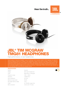 JBL Tim mcGraw TmG81 HeadpHones ®