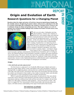 Origin and Evolution of Earth Research Questions for a Changing Planet