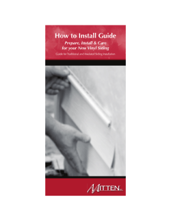 How to Install Guide Prepare, Install & Care 1