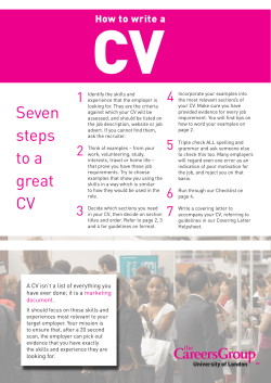 CV 4 1 How to write a