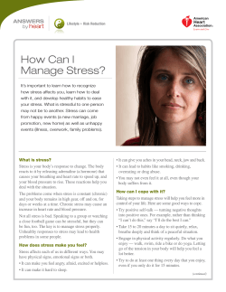 How Can I Manage Stress? heart ANSWERS