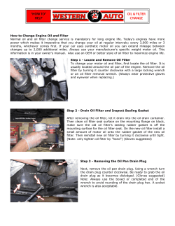 How to Change Engine Oil and Filter