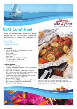 BBQ Coral Trout
