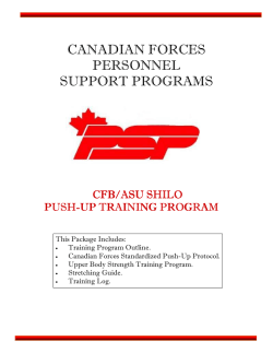 CANADIAN FORCES PERSONNEL SUPPORT PROGRAMS