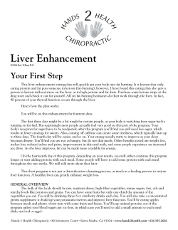 Liver Enhancement Your First Step