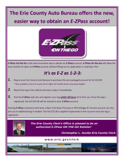 The Erie County Auto Bureau offers the new,  account!