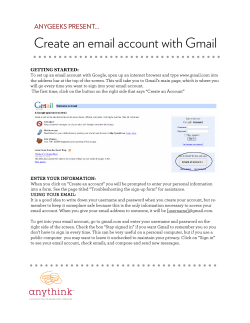 ..................................... Create an email account with Gmail ANYGEEKS PRESENT...